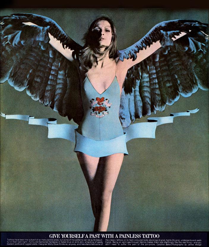 NOVA magazine, (April 1970) published the Tattoo designs of John Dove and